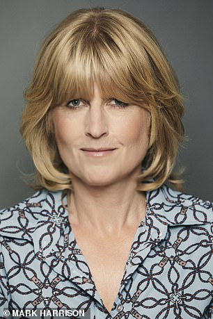 Rachel Johnson (pictured) said she approves of Elle's no make-up stance, but revealed she wears mascara and blusher if gong out